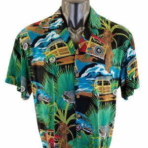 Vintage Diamond Head Hawaiian Button Shirt Mens  C